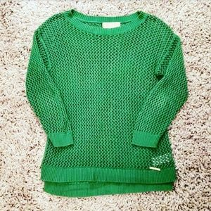 MICHAEL KORS BEAUTIFUL GREEN KNIT SWEATER TOP